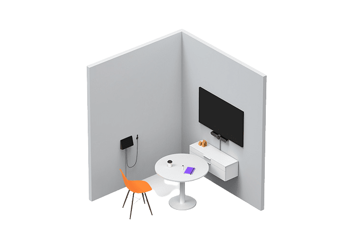 Personal office of huddle room